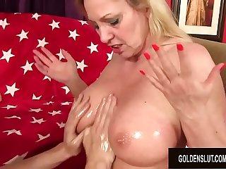 Busty Granny Cala Craves..