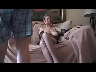 Breasted granny sucking her..