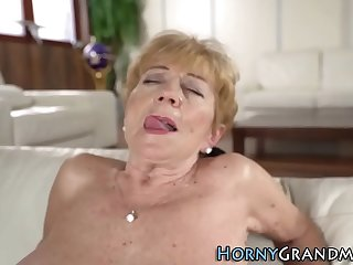Busty granny fingered and..