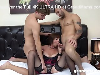 Horny Old Bitch Gets Her..