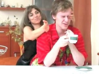 Russian Mom Fucking Son in..
