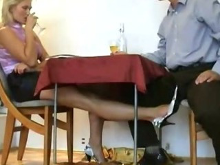 Mature blond slut rubbing..