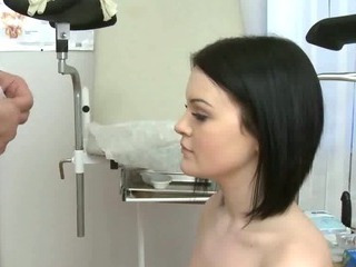 Brunette Sucks Her Doctors..