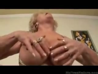 Busty Hairy Blonde Mature..