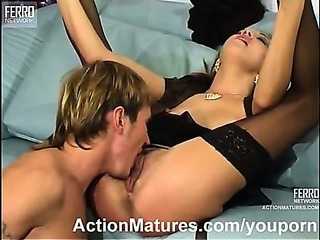 Hot MILF and a guy