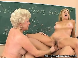 Two Mature Horny Ladies Get..