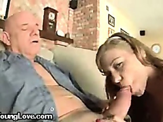 A Young Teenager Blowing Her..