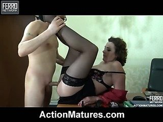 Mature ladyboss having a..