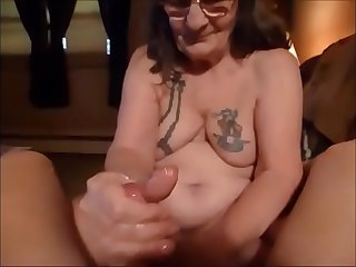 Granny with Glasses Giving a..
